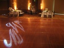 Hilton La Jolla Torrey Pines Wedding Monogram Gobo Projection