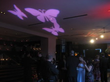 W Hotel San Diego Wedding Butterfly Gobo Projection