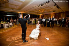 Hilton La Jolla Torrey Pines Wedding Reception Garter