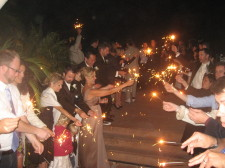 Thursday Club Wedding Sparklers Exit