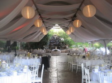 Pala Mesa Resort Wedding Tent Waterfall