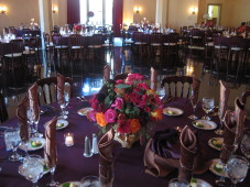 El Cortez San Diego Wedding Low Centerpiece