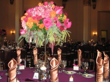 El Cortez San Diego Wedding Tall Centerpiece