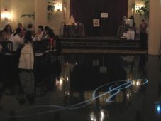 El Cortez San Diego Wedding Gobo Monogram Projection
