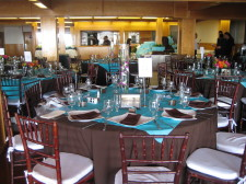 Marina Village Seaside Room Wedding Tables 2