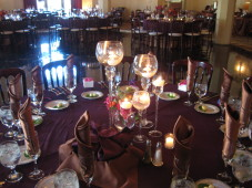 El Cortez San Diego Wedding Candle Centerpiece