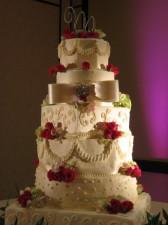 Rancho Bernardo Inn Aragon Wedding Cake Spotlighting