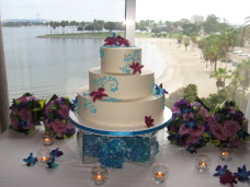 Bahia San Diego Wedding Cake