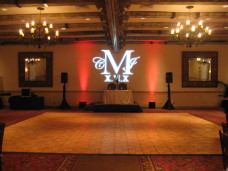 San Diego Wedding Gobo Monogram