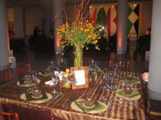 MOCA San Diego Wedding Table