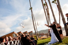 San Diego Wedding Ceremony Dove Release