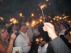 L'Auberge Del Mar Wedding Sparkler Exit