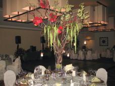 Estancia La Jolla Wedding Flower Centerpieces