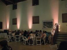 Uplights at San Diego Wedding