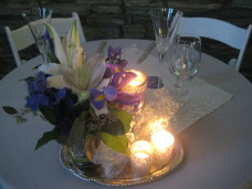 Sweetheart Table Centerpiece at San Diego Wedding
