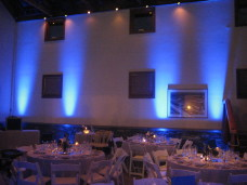 Uplights at Powerhouse Del Mar Wedding Lighting