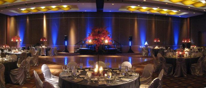 Omni San Diego Wedding DJ Uplighting & Cake Spotlighting