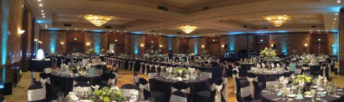 Hilton La Jolla Torrey Pines Wedding Uplighting