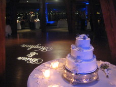 Bali Hai San Diego Wedding Cake & Monogram