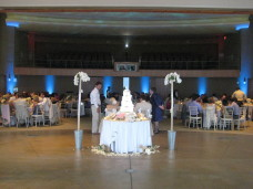 Uplighting at Scripps Forum San Diego Wedding