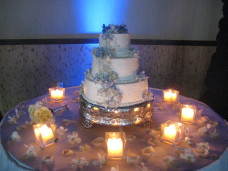 Bali Hai San Diego Wedding Cake With Uplighting