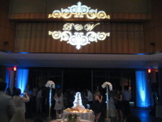 Monogram & Uplighting at Scripps Forum San Diego Wedding