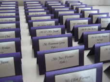 Admiral Kidd Club San Diego Wedding Table Place Cards