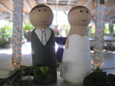 Berardo Winery Wedding Cake Topper Couple