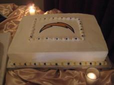El Cortez San Diego Wedding Groom's Cake Chargers NFL logo