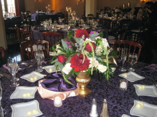 El Cortez San Diego Wedding Table Centerpieces
