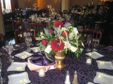 El Cortez San Diego Wedding Table Centerpieces