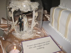 El Cortez San Diego Wedding Grandparent's Cake Topper