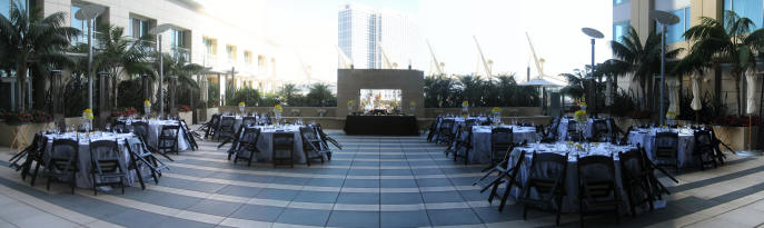 Omni San Diego Wedding Palm Terrace Reception