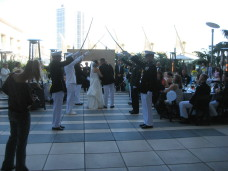 Omni San Diego Wedding Sword Arch