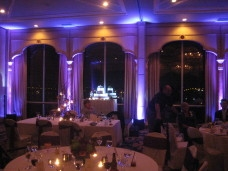 Bahia San Diego Wedding Cake Spotlighting At Distance