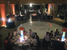 Scripps Forum Wedding Seamless White Circle Dance Floor