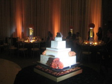 Scripps Forum Wedding Uplighting & Cake Spotlighting