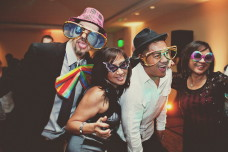 Photo Booth Props Out On The Dance Floor