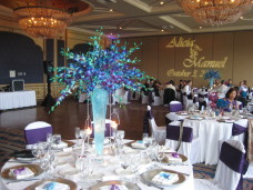 Bahia San Diego Wedding Centerpieces & Gobo Monogram Projection