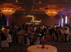 Bahia San Diego Wedding Uplighting & Gobo Monogram Projection