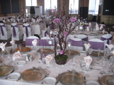 San Diego Wedding Flower Centerpieces at the Bahia.