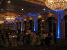 Blue Uplighting at  Bahia wedding in San Diego