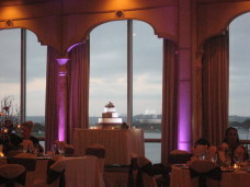 San Diego Wedding Cake Spotlighting & Uplighting at the Bahia