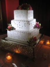 San Diego Wedding Cake Pinspotting & Uplighting