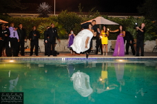 NFL Raiders Wedding Jump In Pool