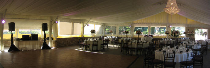 Los Willows Wedding Reception Tent